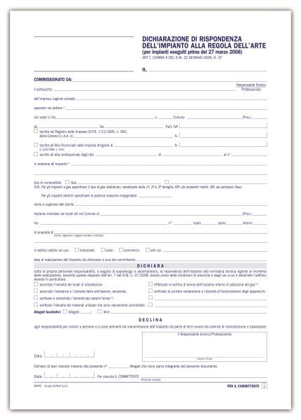 Dichiarazione di rispondenza costo